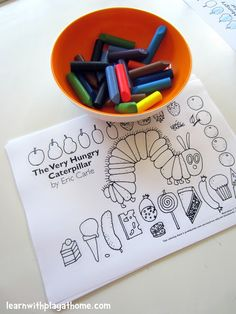 """The Very Hungry Caterpillar"" activities"