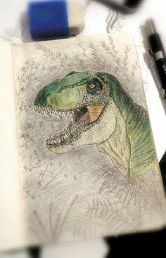 Aaaargh! T-Rex #dinossaur #sketchbook