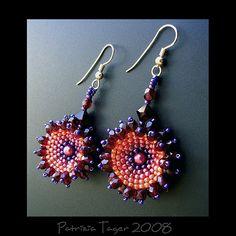 Blazing Flowers Earrings, via Flickr.