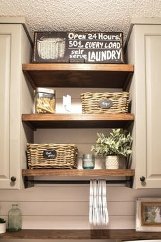 Farmhouse style Laundry room makeover (for under $100)-12
