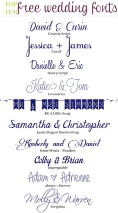 10 Free Wedding Fonts | The Event Crashers