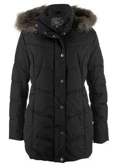 """Bunda """"široký strih"""" • čierna • bonprix obchod Silhouette, Outfit, Canada Goose Jackets, Winter Jackets, Collection, Style, Products, Fashion, Cowl"""