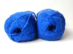 Knitting yarn cobalt blueacrylic Mohair by yarnsupplies on Etsy, $5.35
