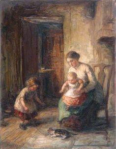 Cameron, Hugh, (1835-1918), The Kitten, 1883, Oil