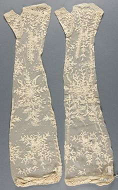Philadelphia Museum of Art - Collections Object : Mitts Late 19th century  Medium: Machine-made lace