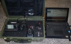 "A new emergency comm's system covering all Ham bands and ALL modes of operation, including packet radio ""radio email"" when hooked up to a laptop. Direct USB connection to laptop on radio panel. Waterproof, crush proof and dust proof. Built in battery, solar charger/controller (keeps batt charged) and built in 120 volt power supply. Comes with a hand held radio, an Icom 7100 100 watt all band/all mode radio and tripod mounted antenna system.  From www.SurviveSafely.com."