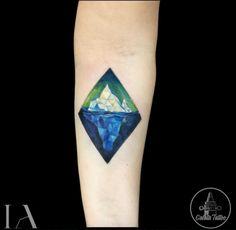 Geometric Iceberg Tattoo
