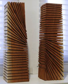 """David Nash, """"Cuts Down to Cuts Across/ Cuts Across to Cuts Down,"""" redgum wood, Haines Gallery Art Sculpture, Abstract Sculpture, Metal Sculptures, Bronze Sculpture, Contemporary Sculpture, Contemporary Art, Wooden Art, Art Object, Wood Design"""