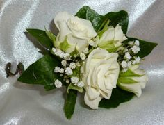 Wedding Corsages for Mother's | White spray rose mother's wedding corsage