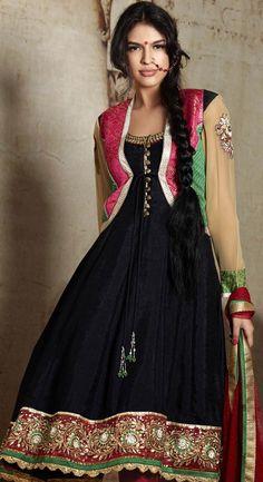 colourfull black anarkali dress for women Buy Salwar Kameez Online, Indian Salwar Kameez, Black Anarkali, Anarkali Dress, Punjabi Suits Online Shopping, Online Shopping Clothes, Latest Salwar Suit Designs, Boho Outfits, Indian Fashion