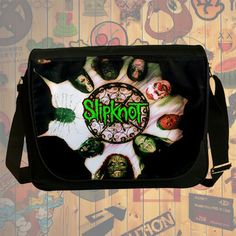 NEW HOT!!! Slipknot Messenger Bag, Laptop Bag, School Bag, Sling Bag for Gifts & Fans #05