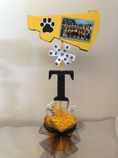 centerpieces for cheerleading banquet - - Yahoo Image Search Results Cheer Banquet, Football Banquet, Football Cheer, Cheer Camp, Cheer Coaches, Cheerleading Gifts, Cheer Gifts, Cheer Dance, Team Gifts