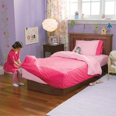 Kids Toddler and Twin Bedding Sets PINK, JERSEY TWIN