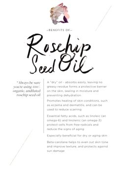 Benefits of rosehip seed oil, now on the blog!