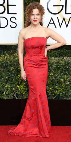 All the Glamorous 2017 Golden Globes Red Carpet Arrivals - Bernadette Peters from InStyle.com