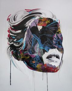 Mixed media artist, Sandra Chevrier, masterfully executes the unlikely combination of superheroes and supermodels. The portraits begin with drawings in ink and acrylic paint, to which comic book fragments are collaged, adding both content and context. The juxtaposition of the comic book imagery creates a striking portrait, and like most great ideas, it came to her by accident. Chevrier was collecting comic books for a DIY project of covering a dresser. After the piece of furniture broke, she…