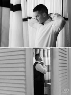 Groom prep portrait Captured by EXO Photography & Cinema Groom Looks, Cinematography, A Team, Photo Booth, Exo, Wedding Photography, Portrait, Beautiful, Wedding Shot