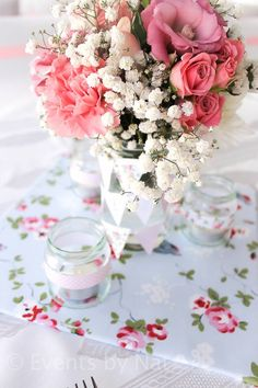 floral shabby chic party ideas for girls by Nat via baby shower ideas and supplies babyshowerideas4u.com