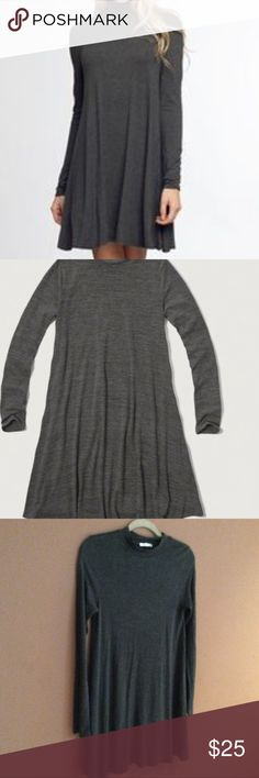 Gray swing dress Mockneck. Never worn. Super soft and comfy! Length is approximately 33 inches Boutique Dresses