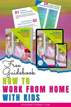 Get 50 work from home with kids tips in this free guidebook. Learn how you can focus while working from home even with kids around. Download now! #workfromhome #workingfromhome #workfromhomewithkids #workfromhometips