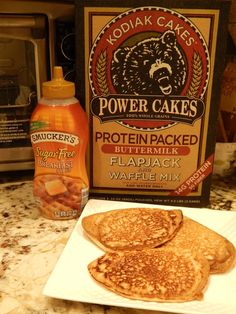 Kodiak Power Cakes pancake mix has a muffin recipe on the back. (Of course, I adjusted it a bit to lower the calorie total so I could add in my favorite walnuts.) These are very yummy muffins. The …