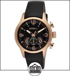 1d8e7e1d083e Breil TW0775 - Reloj analógico de caballero de cuarzo con correa de piel  negra de ✿