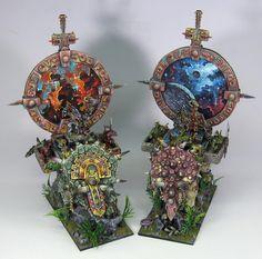 James Wappel Miniature Painting: Revving those engines. Side by side racin' Fantasy Model, Fantasy Figures, Warhammer Fantasy, Warhammer 40k, Lizardmen Warhammer, Warhammer Tabletop, Pokemon, Minis, Game Workshop