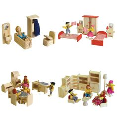 #Wooden #furniture for #Doll House - Package No 2