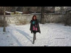 Lena - tiefer Schnee und hohe Stiefel (deep snow and high Overknee-Boots...