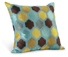 Trellis Teal Pillow - Pillows - Accessories - Room & Board