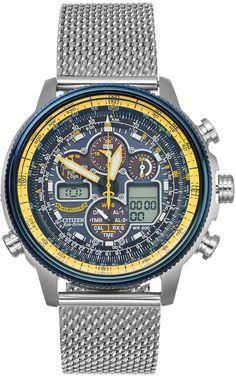 Citizen Eco-Drive Men s Blue Angels Navihawk A-T Stainless Steel  Analog-Digital Watch - JY8031-56L. Digitális KaróraÓrák 87cd1aaa91