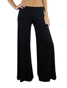 a65e37bcc Free to Live Women's Palazzo Gaucho Pants - Wide Leg Boho Lounge Pants