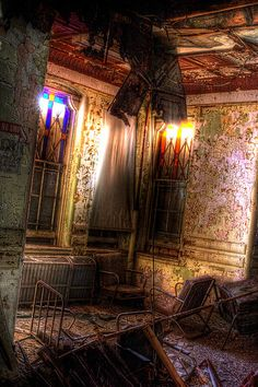 """Hudson River State Hospital - This was someplace in the main building other wise known has """"Up on the hill"""""""