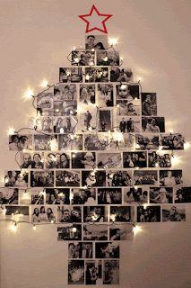 58 ideas for diy christmas tree decorating ideas navidad Wall Christmas Tree, Unique Christmas Trees, Alternative Christmas Tree, Noel Christmas, Christmas Tree With Lights, Xmas Trees, Family Christmas, Christmas 2019, Natal Diy