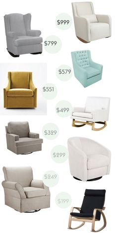 A Nursery Glider / Rocker at Every Budget.. gotta get a comfy one!