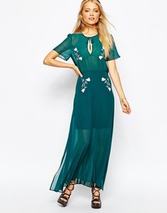 Sister Jane Misty Morning Maxi Dress with Embroidery