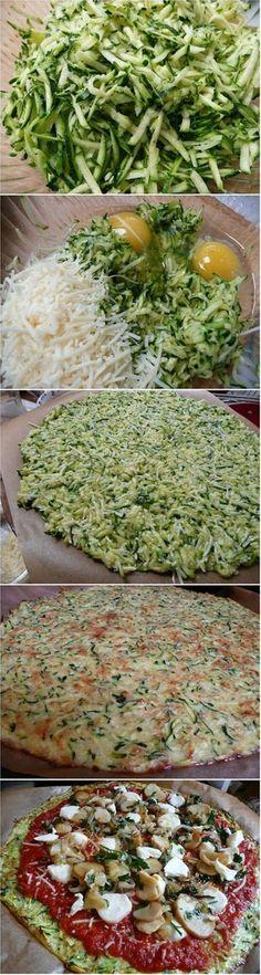 Zucchini Crust Pizza Recipe!