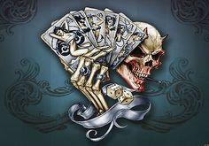 Fototapeten Fototapete Tapeten Alchemy Wandbild Totenkopf Glücksspiel 1347 P4 3 • EUR 29,90