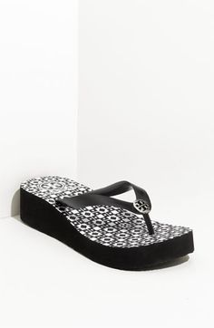 Tory Burch 'Adonis' Flip Flop Wedge ~ Nordstrom ~ $60.00.  Want.