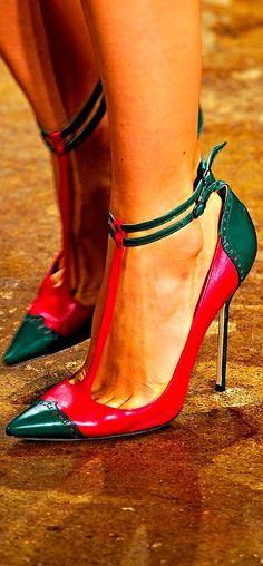 Manolo Blahnik ~ Christmas ( colour wise ) Can you give me a shorter pair for Christmas, PLEASE