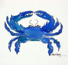Google Image Result for http://4.bp.blogspot.com/_gfga-LNeplU/Si_TOzY__eI/AAAAAAAAAQQ/JAzgzeEfZKU/s400/blue-crab-watercolor-painting.jpg