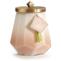 ILLUME 'Laurel' Scented Candle Jar ($46) ❤ liked on Polyvore featuring home, home decor, candles & candleholders, patchouli scented candles, illume candles, patchouli candle, pear scented candles and citrus candle