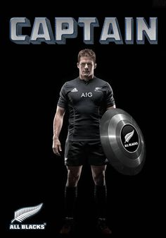All Blacks rugby Captain Richie McCaw - Captain 2015 - Poster created by Gordon Tunstall using Adobe Photoshop
