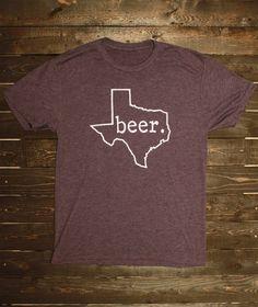 Texas Beer TShirt  Antique Purple TriBlend by TumbleweedTexstyles, $20.00
