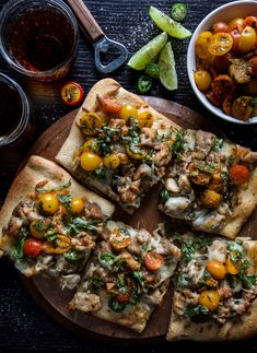 Spicy Basil Chicken Flatbread with Thai Salsa is a sassy dish to make for dinner! Simple sauteed chicken piled-high on a golden crust. This will be your new weeknight go-to!  I finally watched it. Why I waited so long, I haven't a clue. Are you slow to watch movies, too? I swear I am a …