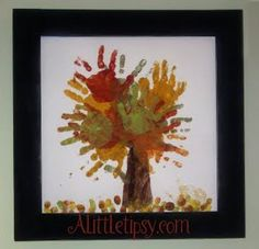 "With all of our family's hands... our own ""family tree""... I would probably do a variation, each family member would get a different color."