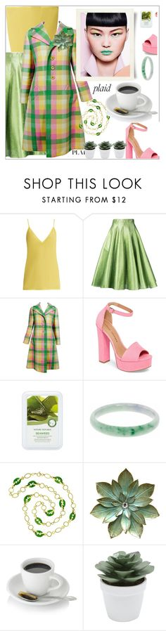"""""""#Plaid"""" by delfinadominguez ❤ liked on Polyvore featuring Raey, Bambah, Bill Blass, Chinese Laundry, nature republic, Gucci and M&Co"""