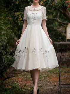 Ericdress Embroidery Peter Pan Collar Casual Dress Casual Dresses Ericdress Embroidery Peter Pan Collar Casual Dress Casual Dresses The post Ericdress Embroidery Peter Pan Collar Casual Dress Casual Dresses appeared first on Chiffon Diy. Dresses For Teens, Tight Dresses, Simple Dresses, Cheap Dresses, Casual Dresses, Dresses Dresses, Dresses Online, Mode Outfits, Dress Outfits