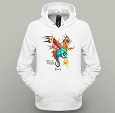 DOTA 2 hero Puck white pullover hoodie for men fleece