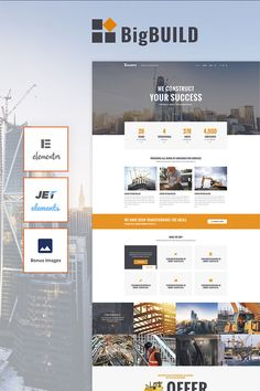 This fully responsive Construction WordPress Theme will help you to create a fully-functional, fresh and modern website for your civil engineering business. By using the Customizer, which is a built-in visual settings manager, you can setup fonts, site structure, widgets positioning, images and colors schemes to adjust your future website as much as you want. This theme has a distinctive design, it's fast, easy to use and simple to manage. Choose among many different layouts to customize…